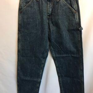 Lee Jeans - Lee Dungarees Carpenter Dark Blue Mens Jeans